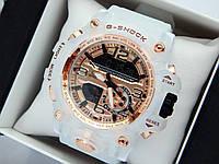 Новинка 2019! Круті спортивні годинник Casio G-Shock з прозорим корпусом і ремінцем - золоті з білим, фото 1