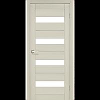 Korfad, PORTO DELUXE, PD-02, Скло сатин білий + скло кольору АЛЮМІНІЙ