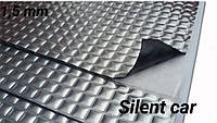 Виброизоляция Silent Car, 1.5 мм,  330х500 мм, 60 мкм