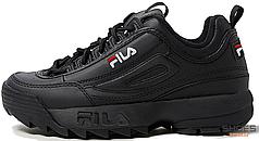 Мужские кроссовки Fila Disruptor II All Black 0325092940010, Фила Дизраптор