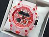 Новинка 2019! Круті спортивні годинник Casio G-Shock з прозорим корпусом і ремінцем - червоний циферблат
