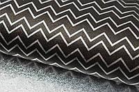 Бумага упаковочная Зигзаг черная металлик 50*70 см односторонняя