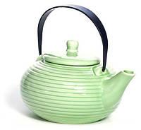 Чайник заварочный Fissman Ice Green 750 мл керамический со стальным ситечком Салатовый FN-TP-9348, КОД: 295888