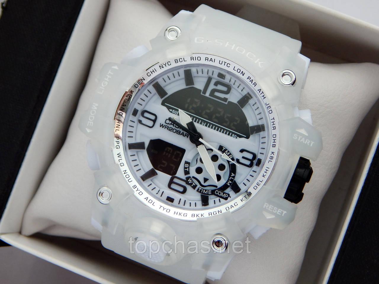 Новинка 2019! Крутейшие спортивные часы Casio G-Shock с прозрачным корпусом и ремешком - белый циферблат, фото 1