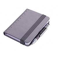 Блокнот Din A7 Lilipad + ручка Liliput, серый