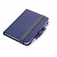 Блокнот Din A7 Lilipad + ручка Liliput, синий