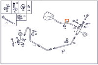 Шланг сцепления Mercedes 1249970082 от тормозного бачка к главному цилиндру сцепления