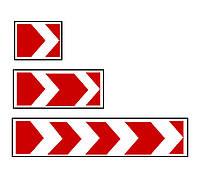 """Знак дорожный """"1.4.1. Направление поворота"""""""