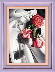 """Набор алмазной вышивки (частичная зашивка) """"Розы. Пастель"""""""