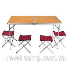 Складной туристический  стол и 4 стула, фото 2
