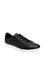 Мужские стильные черные кожаные кеды Calvin Klein, фото 1