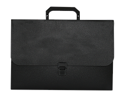 Портфель пластиковый Buromax Jobmax А4/35 мм чёрный