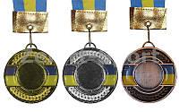Медаль спортивная с Украинской символикой