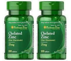 Zinc Gluconate 25 mg (100 tabs) Puritan's Pride