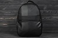 Рюкзак городской стильный из качественной PU эко кожи Calvin Klein, цвет черный