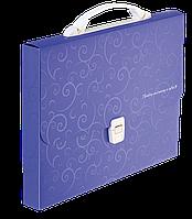 Портфель пластиковый Buromax Barocco А4/35 мм фиолетовый