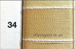 Швейная нить Gold Polydea 40 № 34, бежевый, фото 2