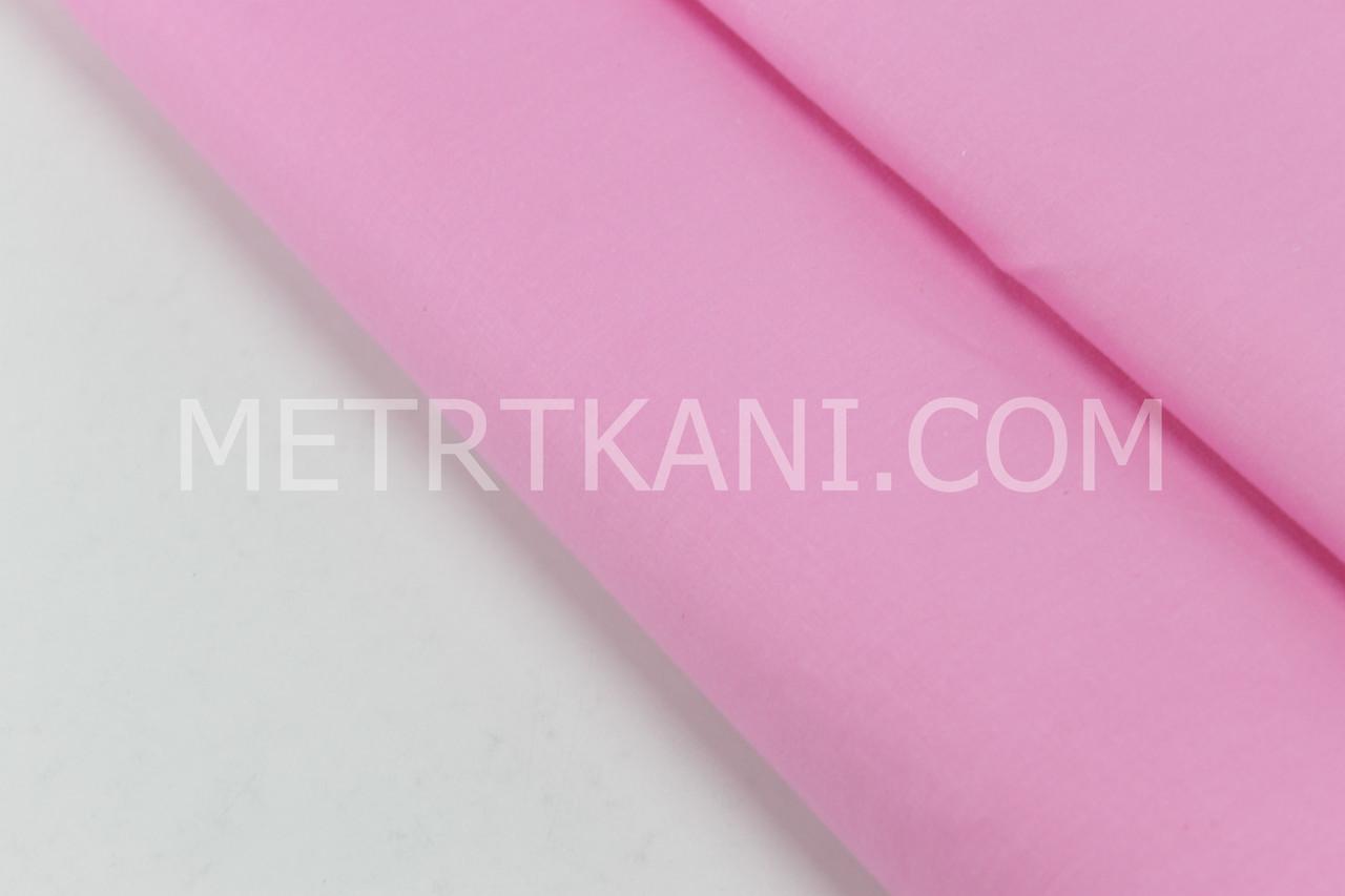 Сатин однотонный темно-розового цвета № 160-166 с