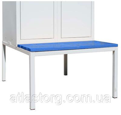 Лавка для одежної шафи СГ модель 4, розміри 370х800х800мм