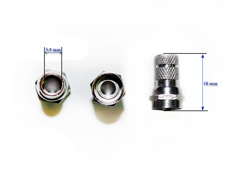 Штекер F RG-59 (size18mm) цинк