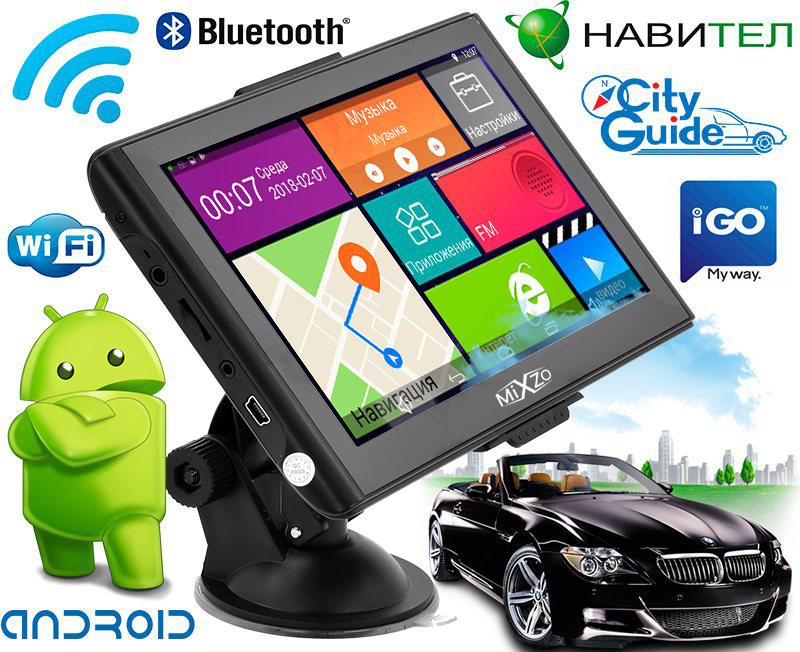 "Новый мощный GPS навигатор MiXzo MX760 7"" 8 Ядер 1/16 FM AV Android 4.4, фото 1"