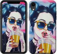 Чехол EndorPhone на iPhone XR Арт-девушка в очках 3994c-1560, КОД: 930513