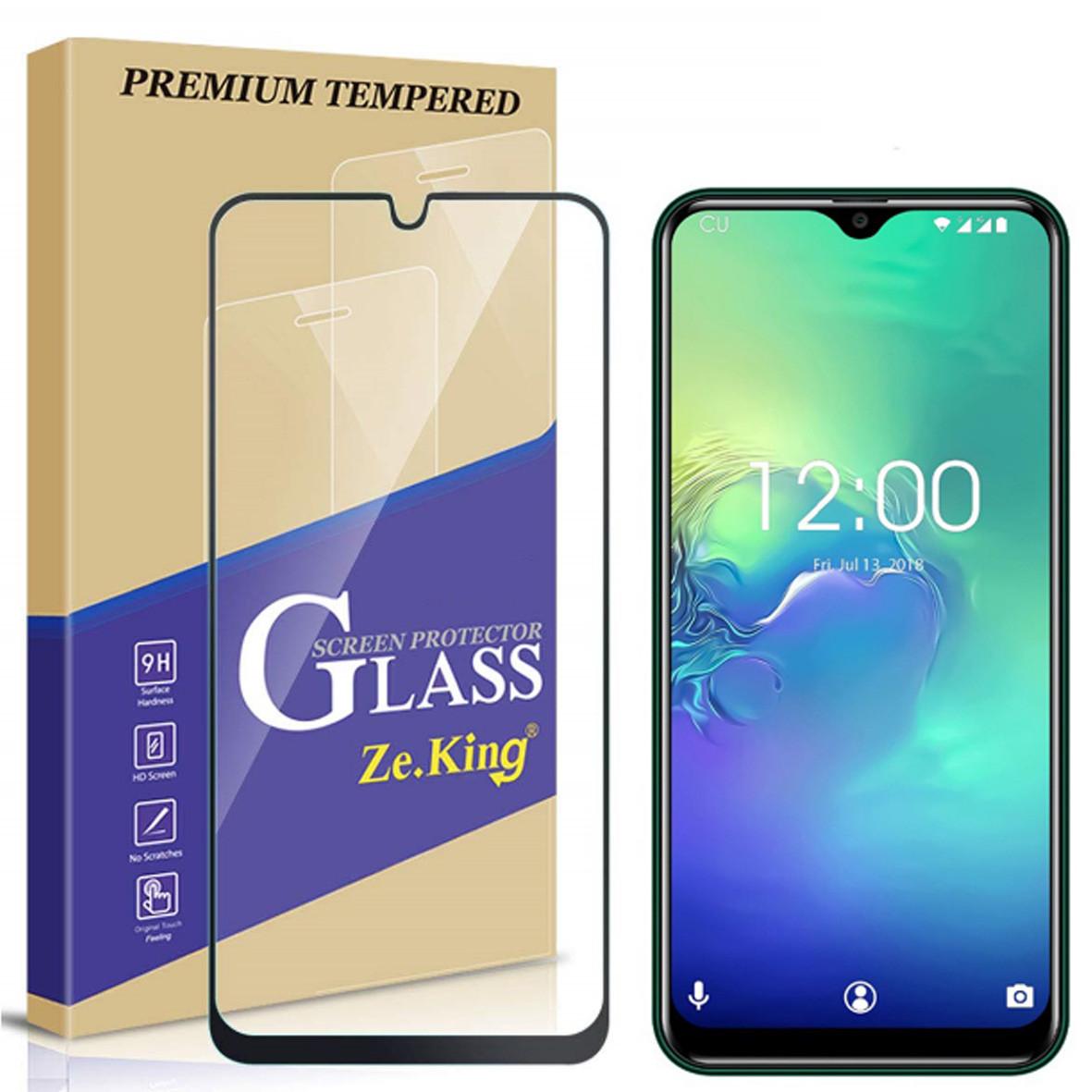 Оригинальное закаленное защитное 5D стекло для Oukitel C15 Pro / есть чехлы  /