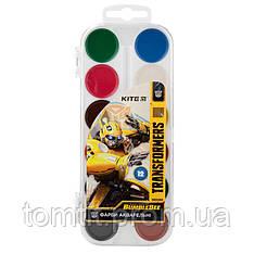 "Краска акварельная ""Transformers"", 12 цветов, ТМ Kite"