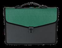 Портфель на 3 отделения Buromax зелёный