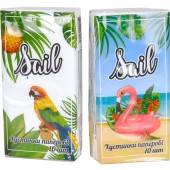 Салфетки бумажные SAIL (носовые платки) 10 шт