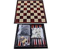 Игровой набор 3 в 1 Нарды Шахматы Шашки 0057710 35 х 35 см 35-SAN022, КОД: 913837