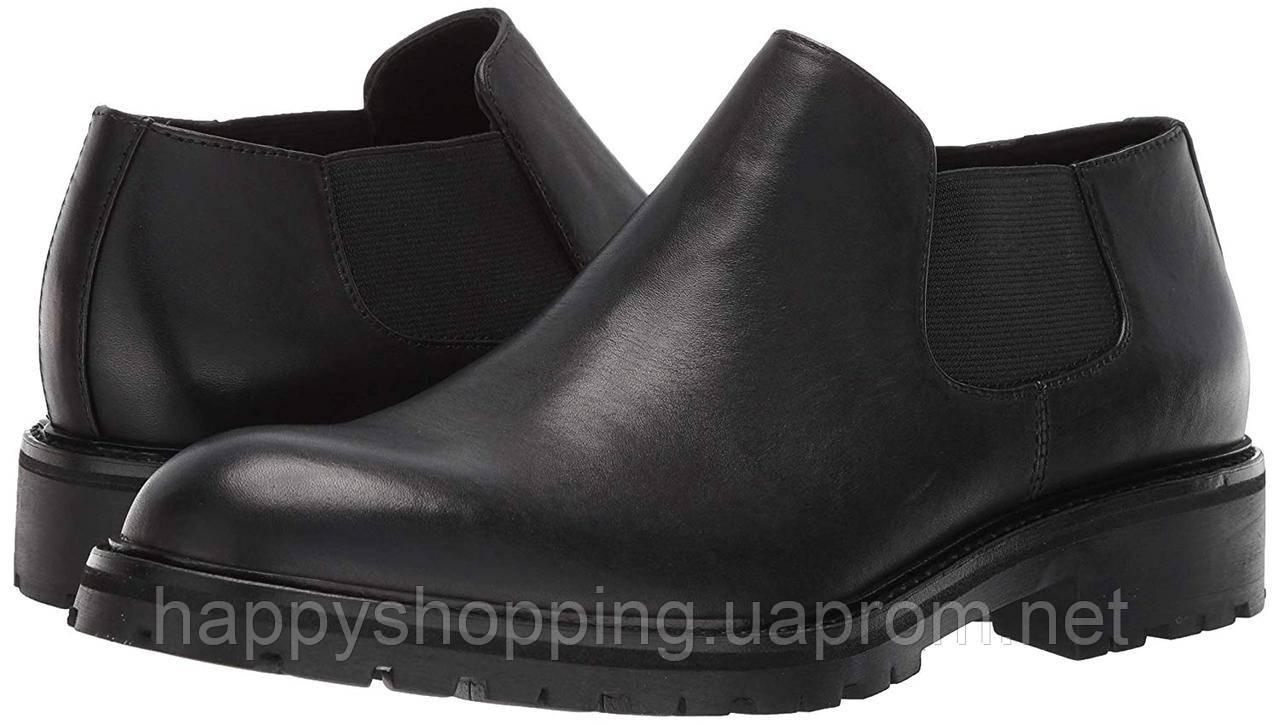 Мужские оригинальные черные кожаные туфли Calvin Klein