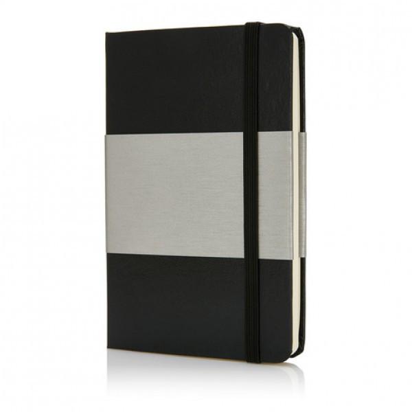 Блокнот в твердой обложке формата A6 черный