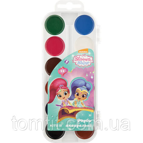 Краска акварельная Shimmer Shine, 12 цветов, ТМ Kite, фото 2