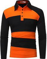 Рубашка поло Stereotip Поло с длинным рукавом Stereotip рр2 XL Оранжевый SKU_рр2