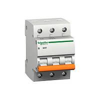 Автоматический выключатель трехполюсный, 6А Schneider(Домовой)