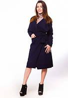 Пальто Stereotip Пальто на запах без подкладки Stereotip ПЛ1 S Темно-синий SKU_ПЛ1