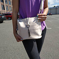"""Женская кожаная сумка """"Тринити White"""", фото 1"""