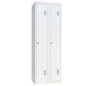 Шкаф одежный металлический ШО-300/2, размеры 1800х600х500мм, 2 секции