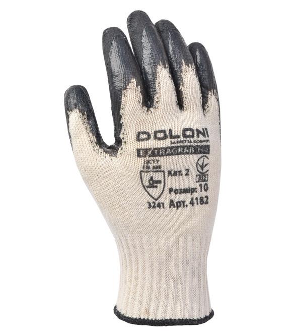 Перчатки х/б латексные Doloni