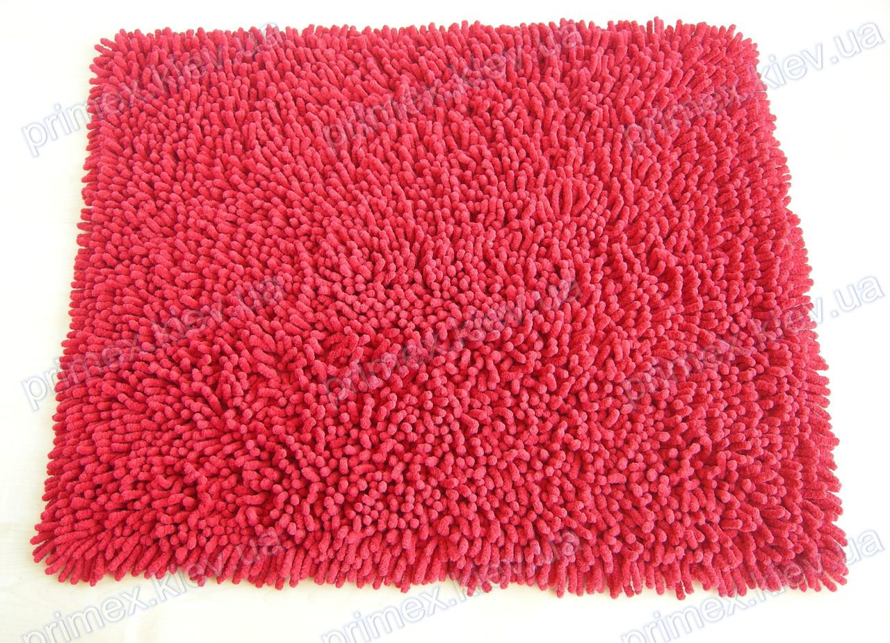Коврик для ванной хлопковый, 70*100см. цвет красный. Набор ковриков для ванной