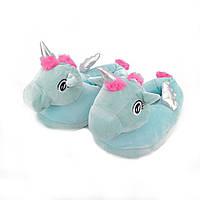 Женские тапочки-игрушки Kronos Top Единороги с серебристыми крылышками размер 35-38 stet1255, КОД: 943774