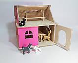 Кукольный домик Hega розовый 1эт.(041A), фото 2