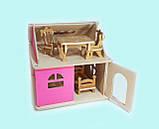 Кукольный домик Hega розовый 1эт.(041A), фото 4