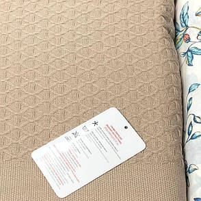 Постельное бельё First Choice пике deluxe с покрывалом 230х250 коричневое, фото 2