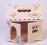 Кукольный домик  Hega  с росписью 1эт. (039A), фото 4