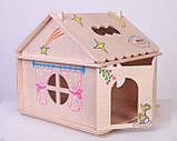 Кукольный домик  Hega  с росписью 1эт. (039A), фото 5