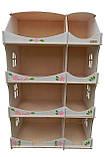 Кукольный домик-шкаф Hega с росписью белый (090A), фото 3