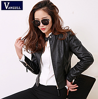 Жіноча шкіряна куртка чорна. Арт.11399, фото 1