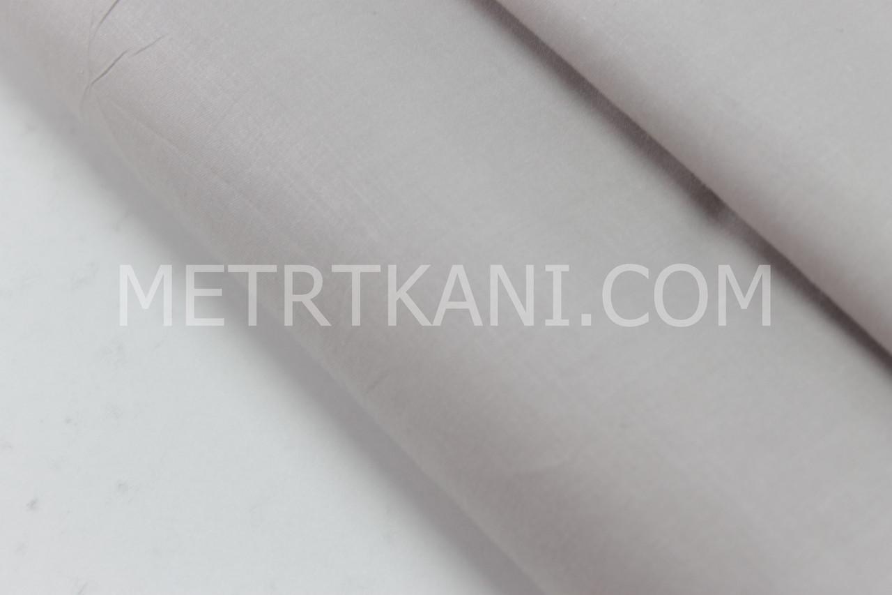 Сатин однотонный серого цвета № 160-176 с